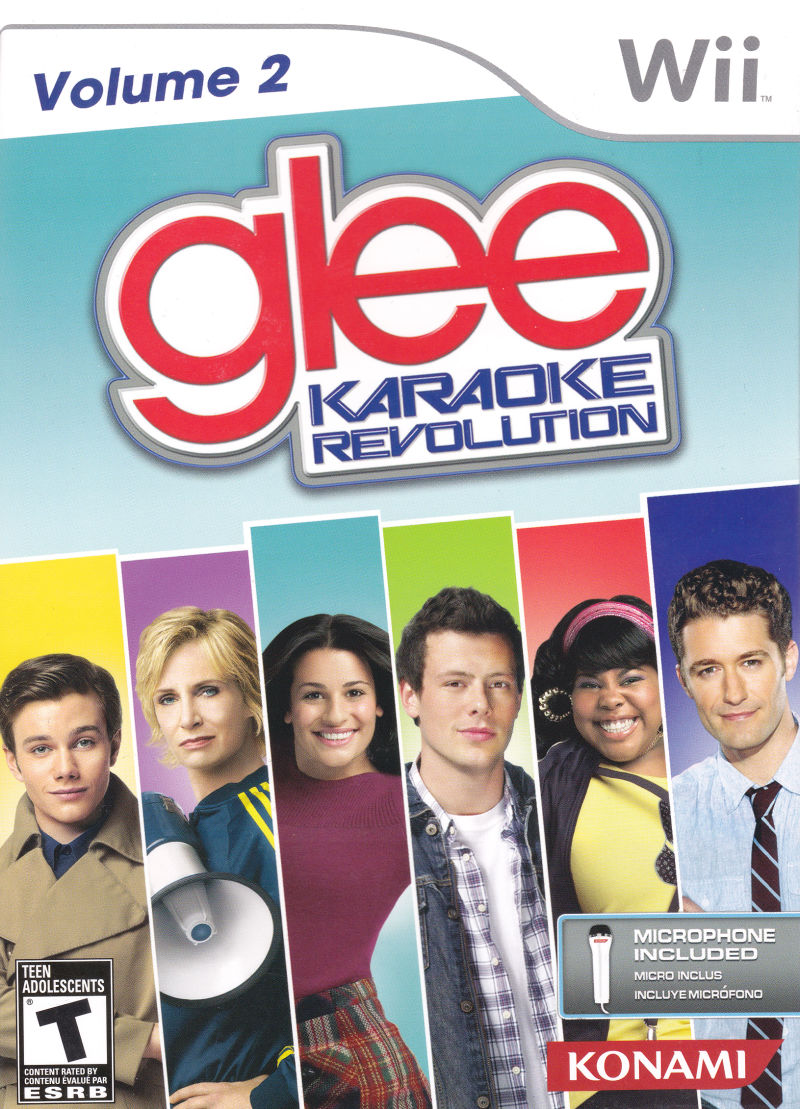 Karaoke Revolution: Glee - Volume 2 Wii Front Cover
