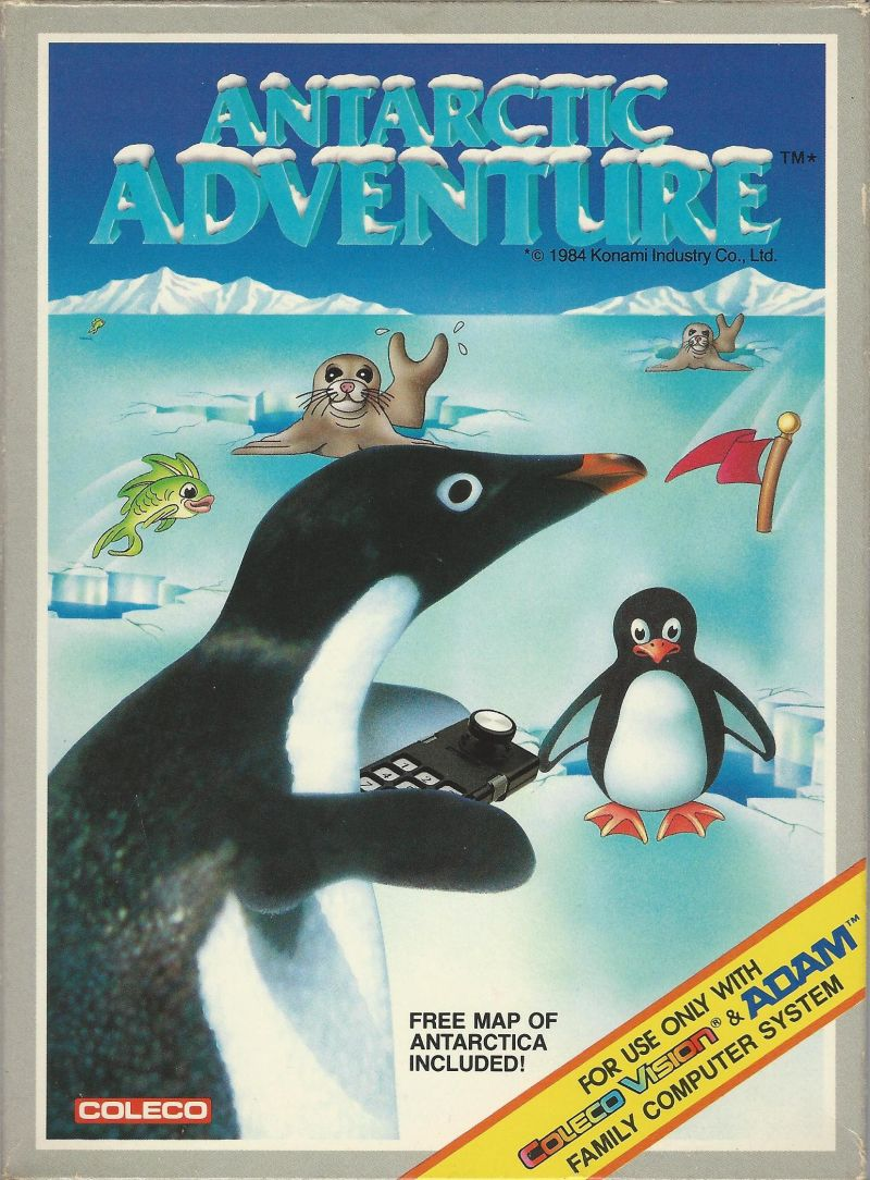 Antarctic Adventure ColecoVision Front Cover