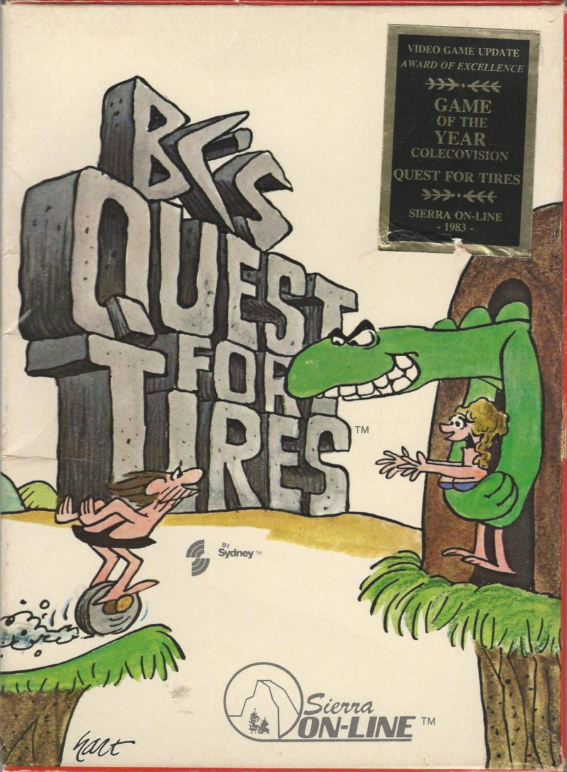 BC's Quest for Tires ColecoVision Front Cover