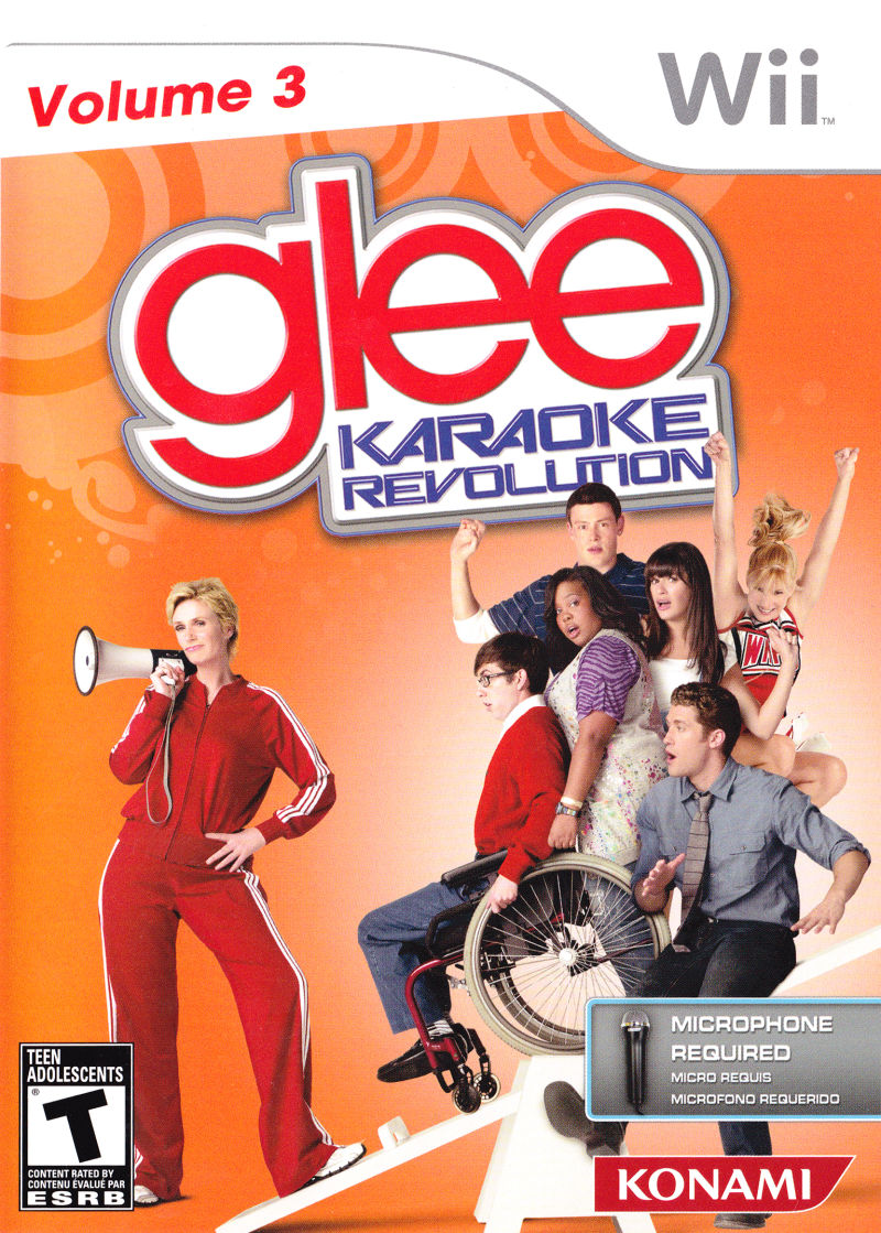 Karaoke Revolution: Glee - Volume 3 Wii Other Keep Case - Front