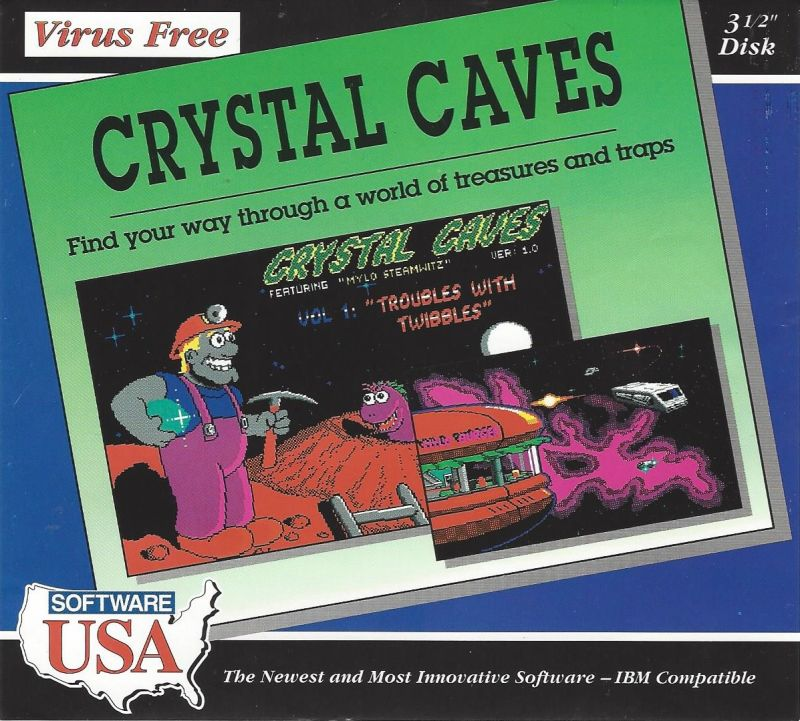 Crystal Caves DOS Front Cover