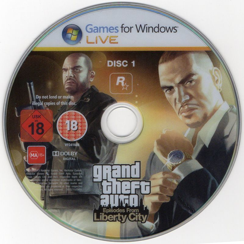 Grand Theft Auto: Episodes from Liberty City Windows Media Disc 1/2