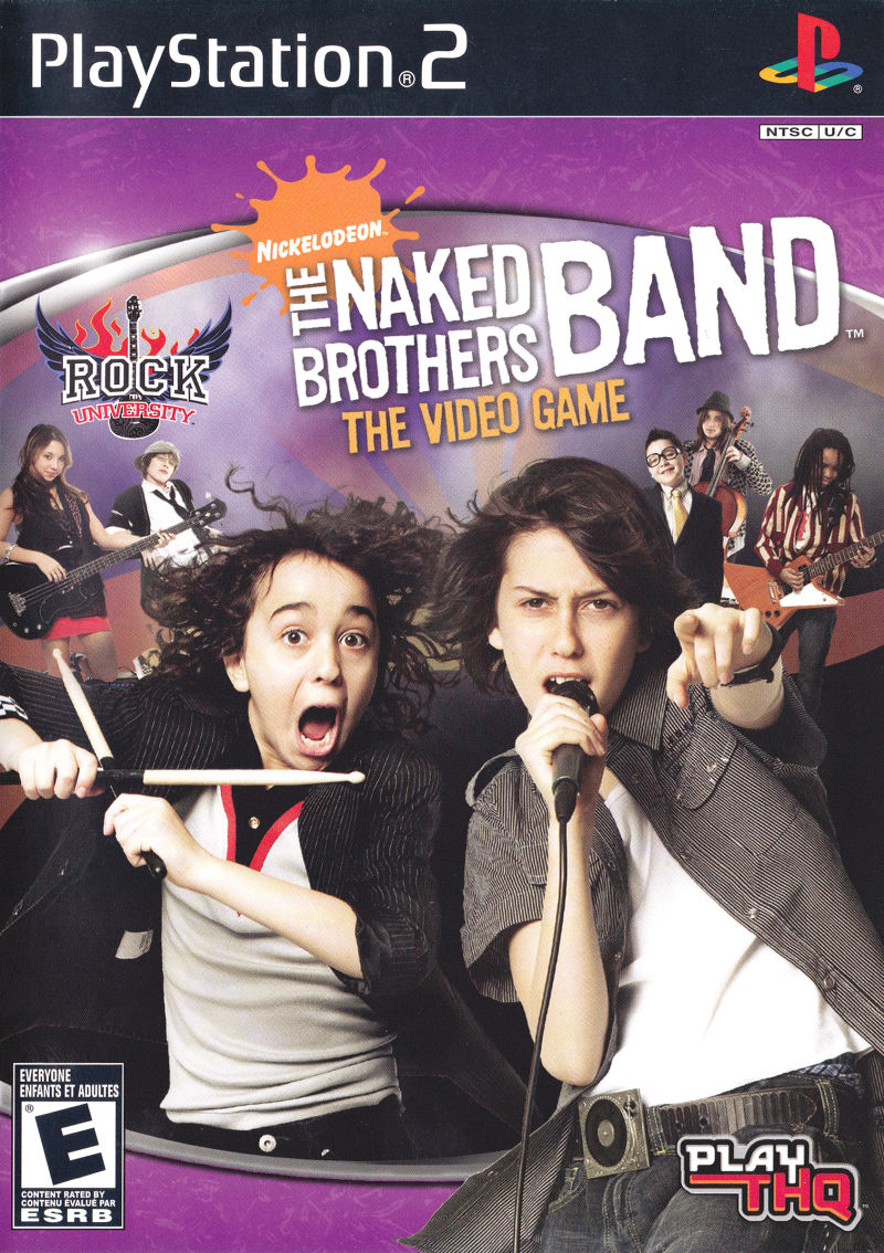 The Naked Brothers Band: The Video Game PlayStation 2 Front Cover