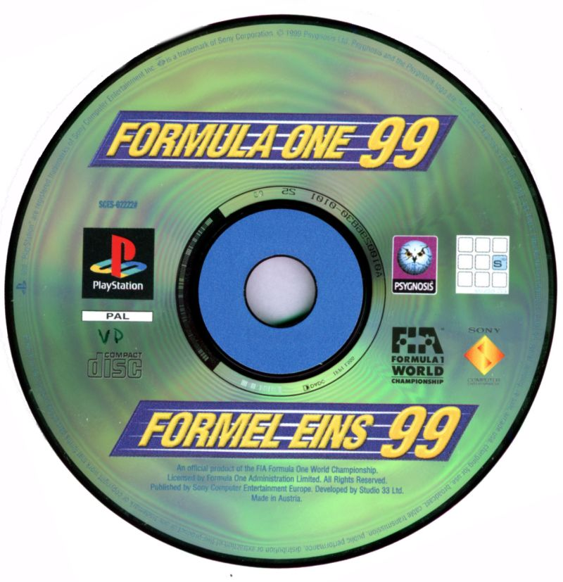 Formula One 99 PlayStation Media