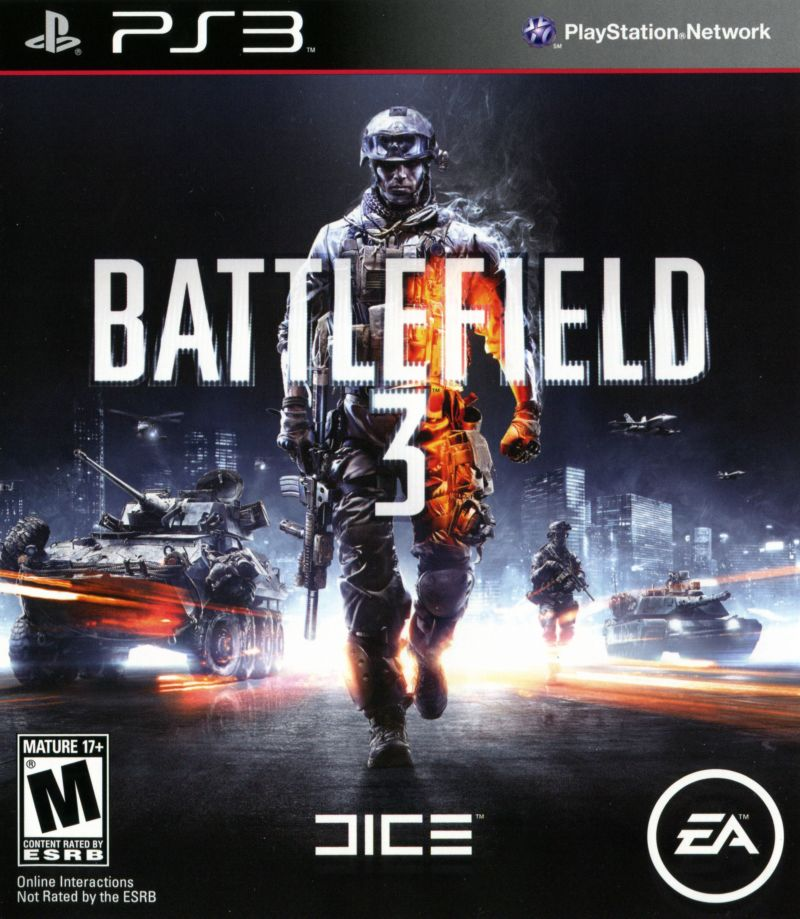 Battlefield 3 PlayStation 3 Front Cover