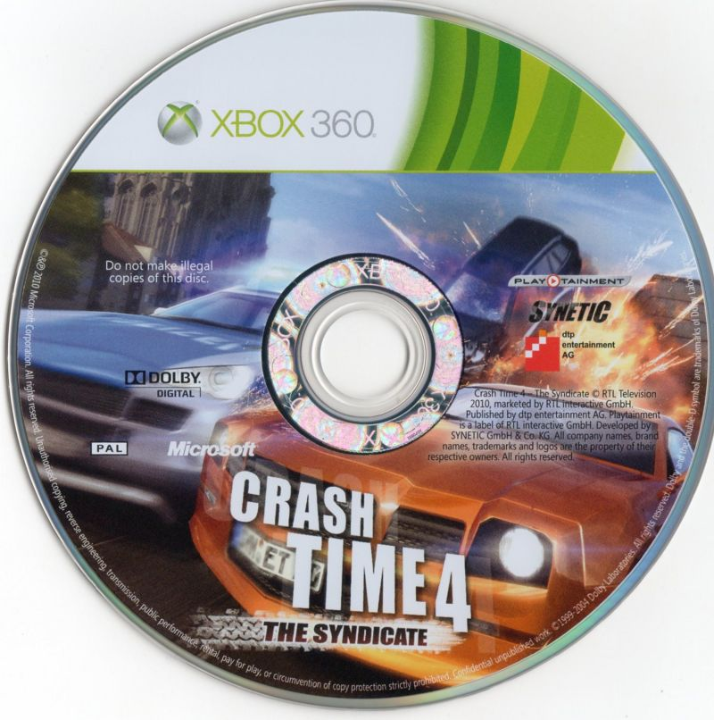 Crash Time 4: The Syndicate Xbox 360 Media