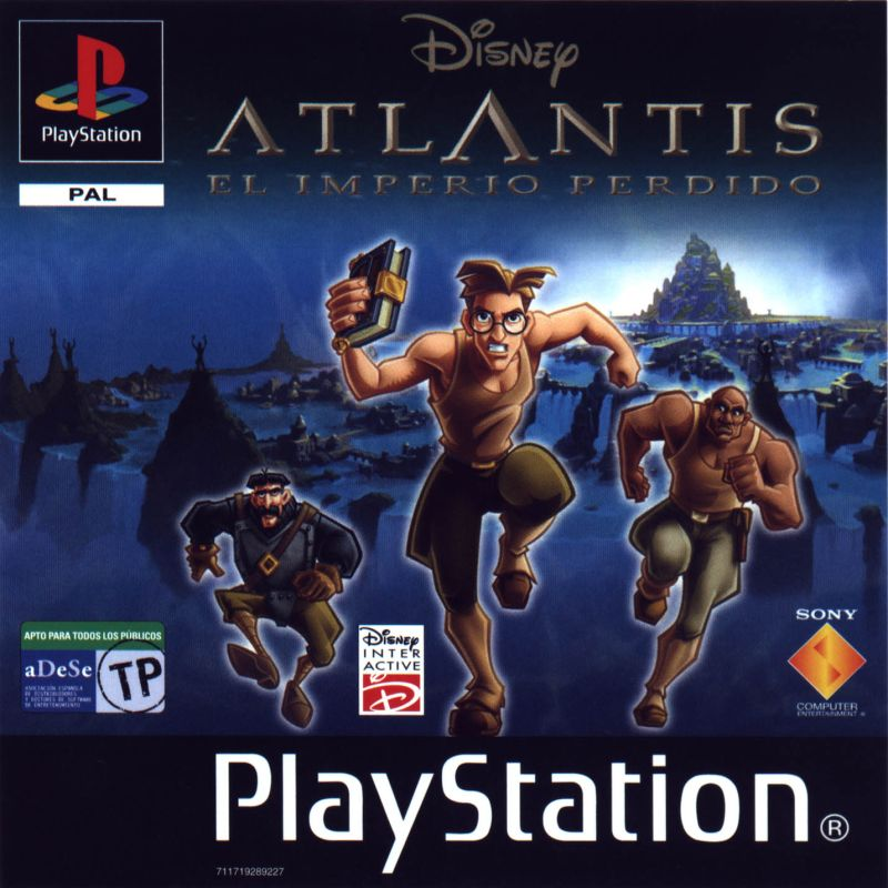 Disney's Atlantis: The Lost Empire PlayStation Front Cover