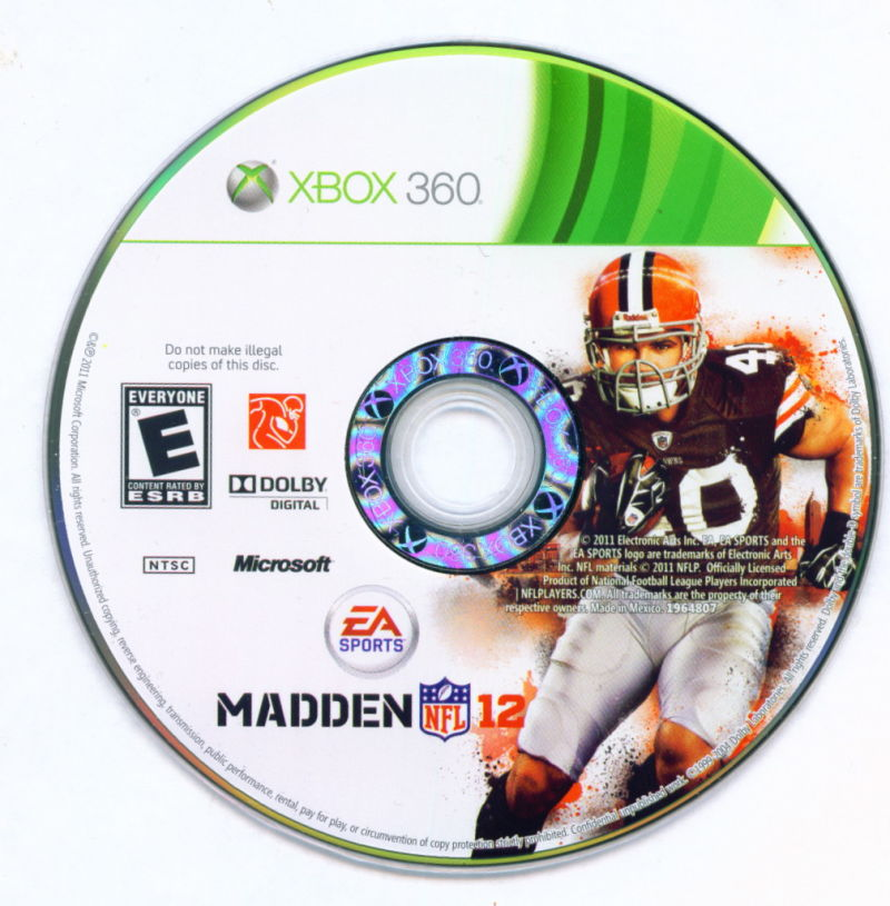 Madden NFL 12 Xbox 360 Media