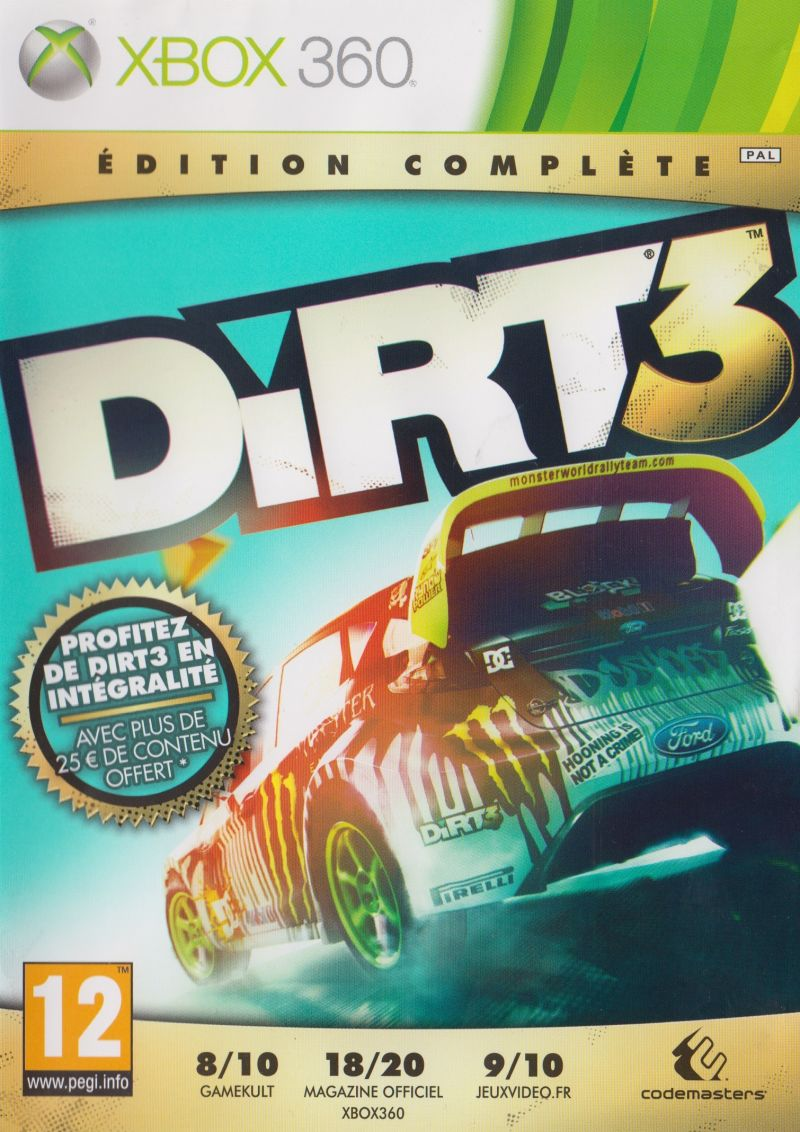 DiRT 3: Complete Edition Xbox 360 Front Cover