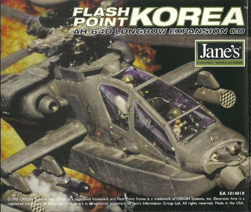 Jane's Combat Simulations: AH-64D Longbow: Flash Point Korea DOS Other CD-inlay back