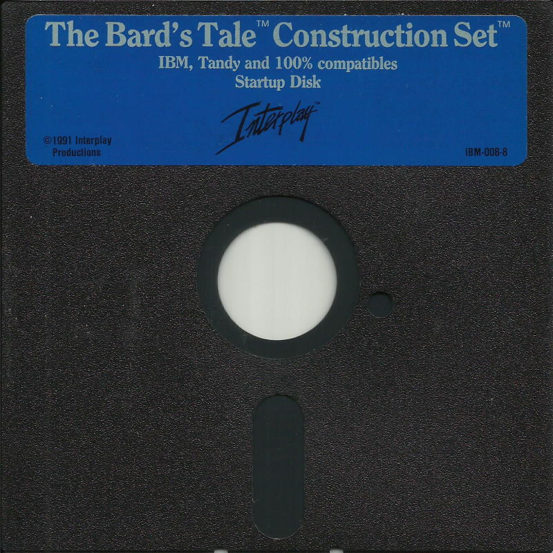 The Bard's Tale Construction Set DOS Media Disk 1/1