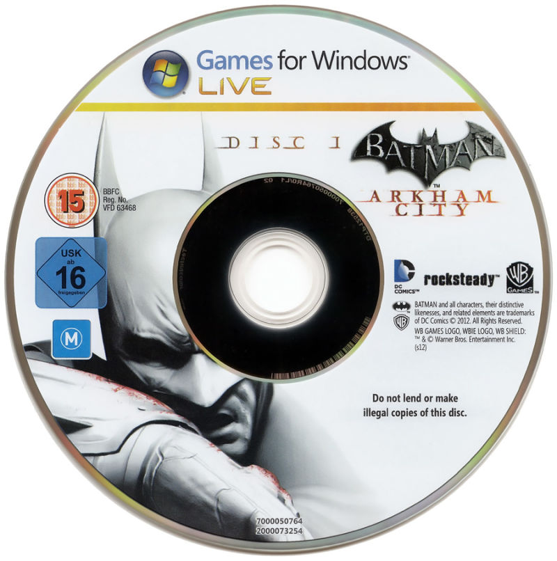 Batman: Arkham City - Game of the Year Edition Windows Media Disc 1/3