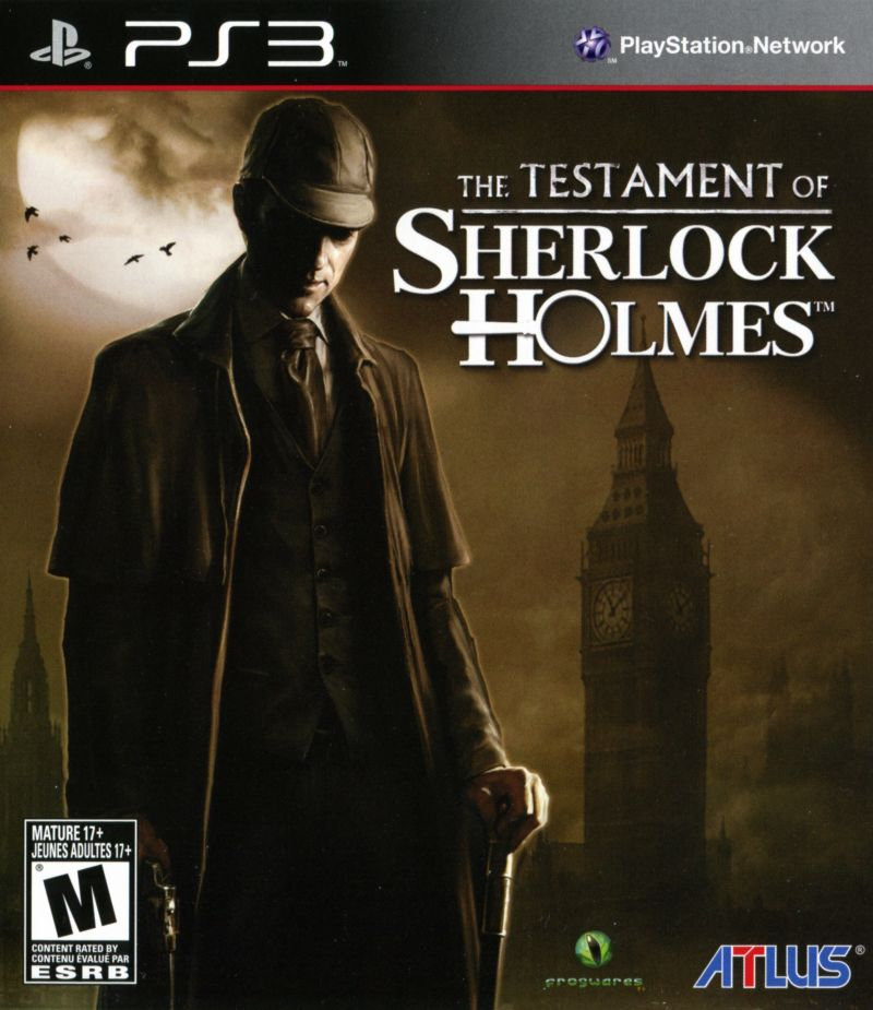 The Testament of Sherlock Holmes PlayStation 3 Front Cover