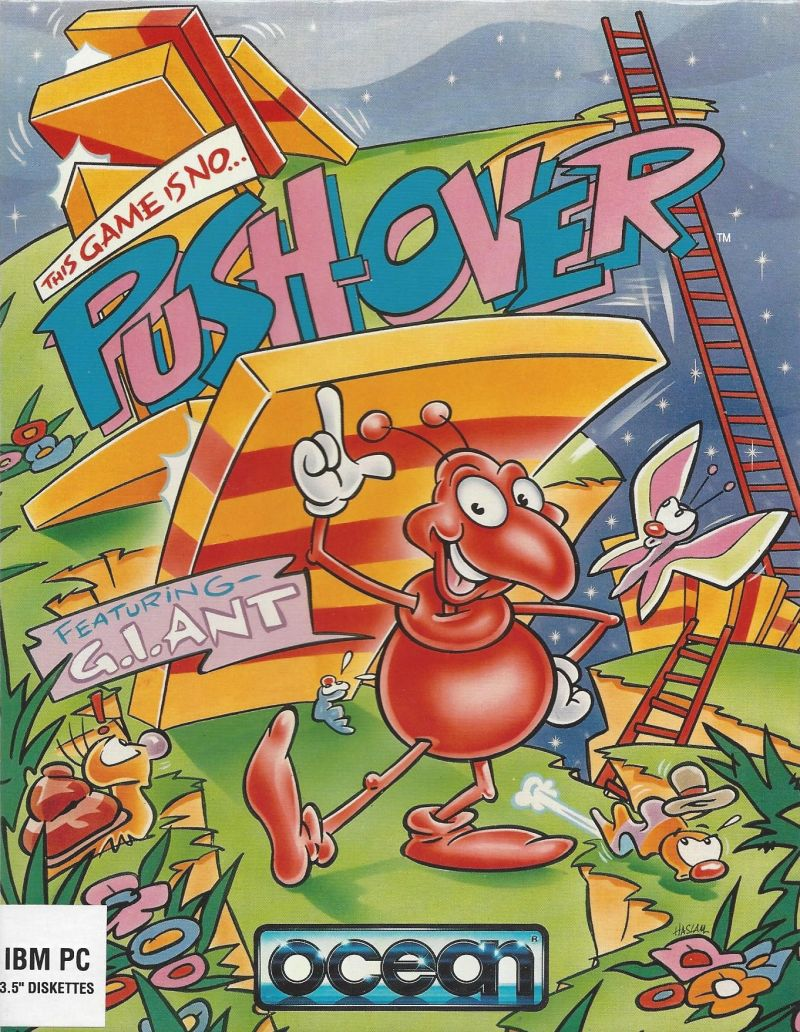 Pushover DOS Front Cover