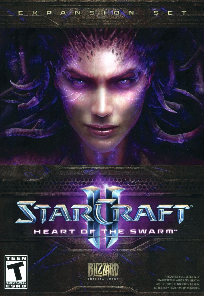 StarCraft II: Heart of the Swarm Macintosh Front Cover