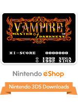 Master of Darkness Nintendo 3DS Front Cover