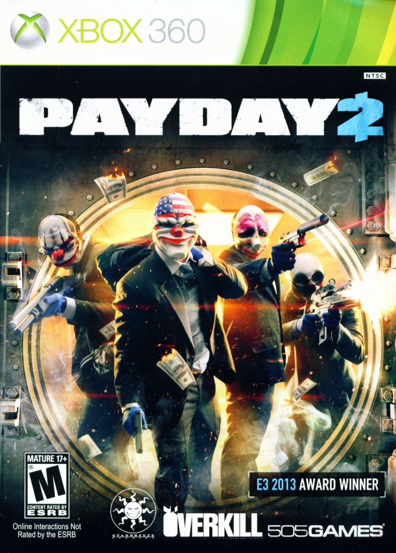 Xbox 360 Game Front Covers Payday 2 (2013) Xbox 3...