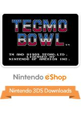 Tecmo Bowl Nintendo 3DS Front Cover