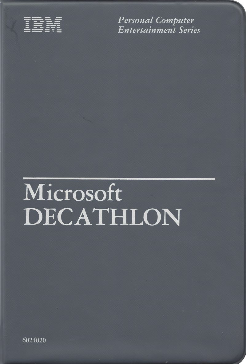 Microsoft Decathlon PC Booter Front Cover