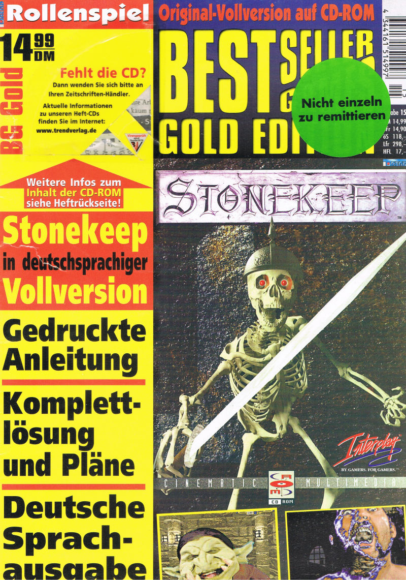 Stonekeep DOS Front Cover