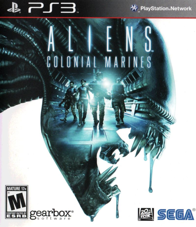 Aliens: Colonial Marines PlayStation 3 Front Cover