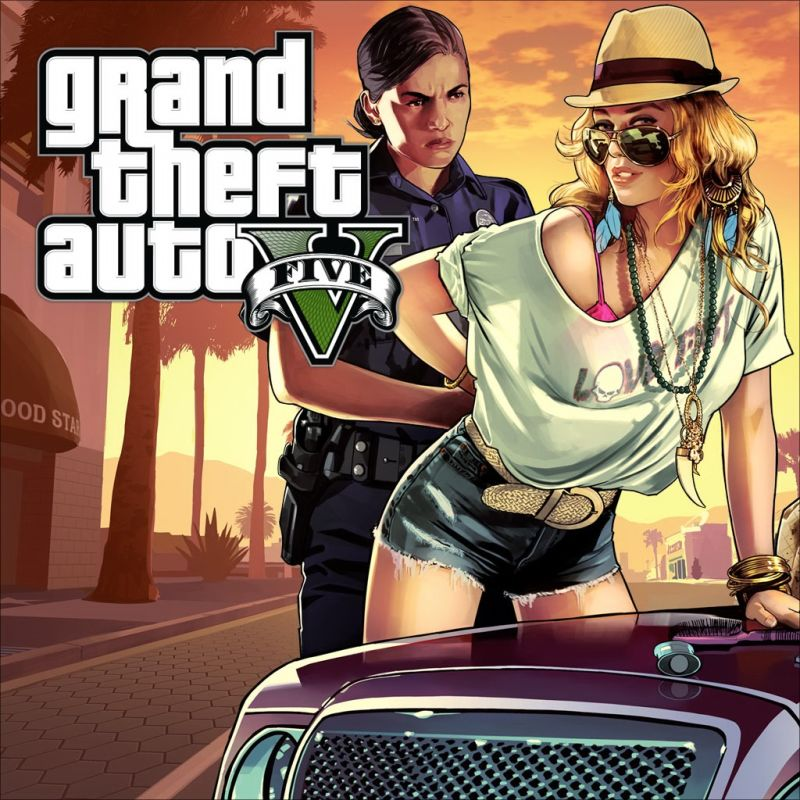 Grand Theft Auto V PlayStation 3 Front Cover
