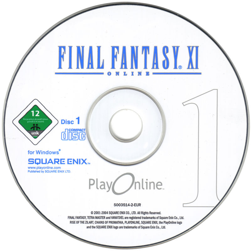 Final Fantasy XI Online: The Vana'Diel Collection Windows Media Final Fantasy XI Disc 1/3