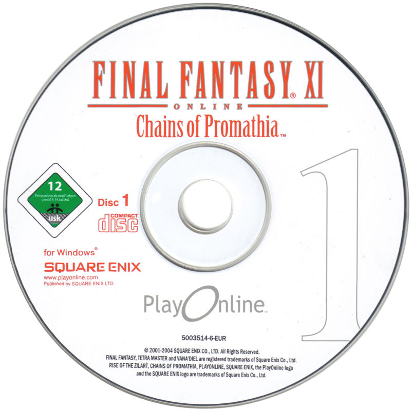 Final Fantasy XI Online: The Vana'Diel Collection Windows Media Chains of Promathia Disc 1/2
