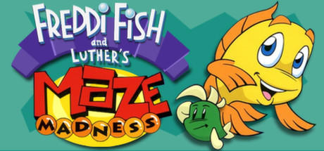 Freddi Fish and Luther's Maze Madness Linux Front Cover
