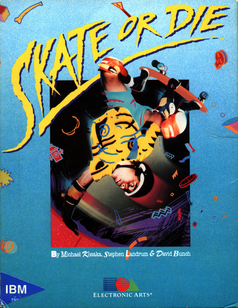 Skate or Die DOS Front Cover