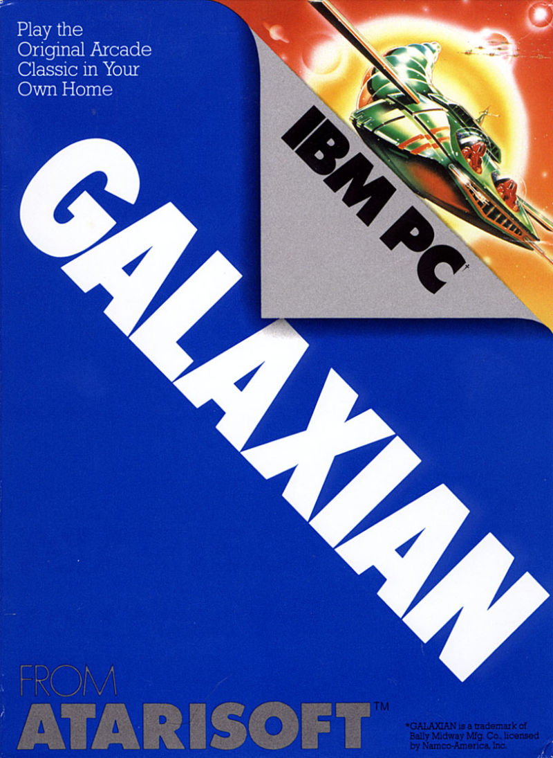 Galaxian PC Booter Front Cover