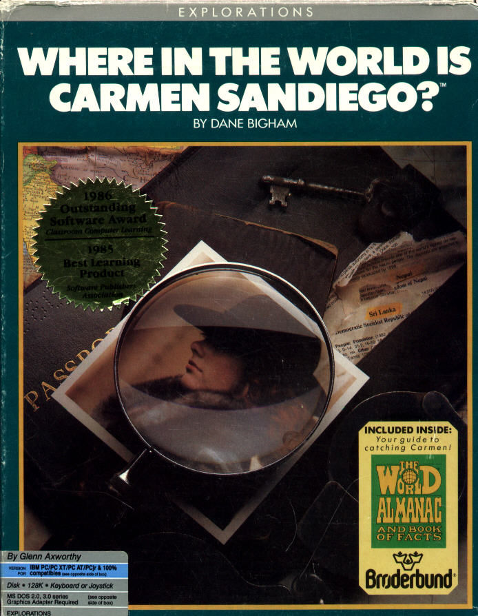 Where in the World is Carmen Sandiego? DOS Front Cover