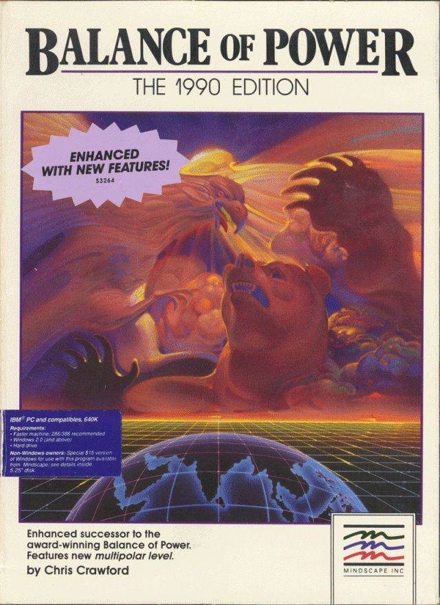 Balance of Power: The 1990 Edition DOS Front Cover