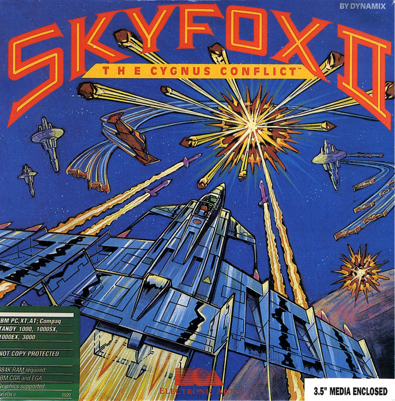 Skyfox II: The Cygnus Conflict DOS Front Cover