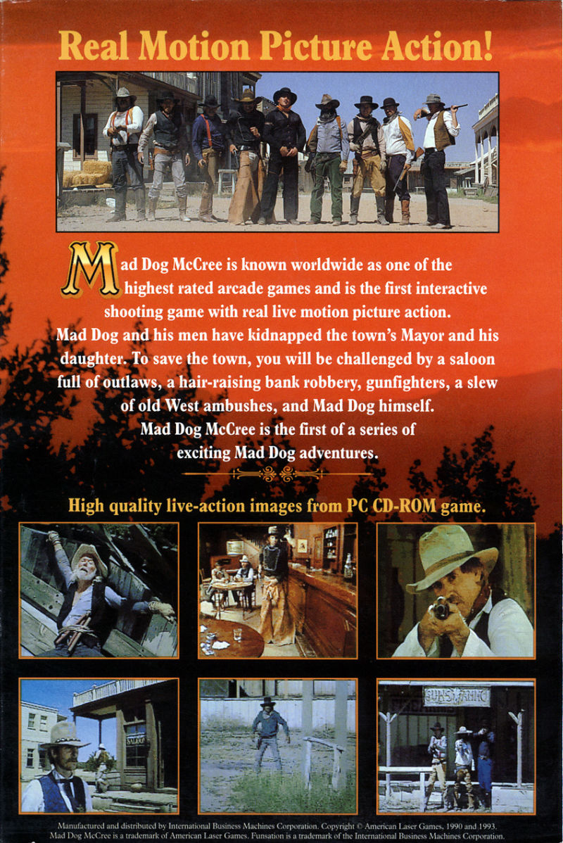 Mad Dog McCree DOS Back Cover