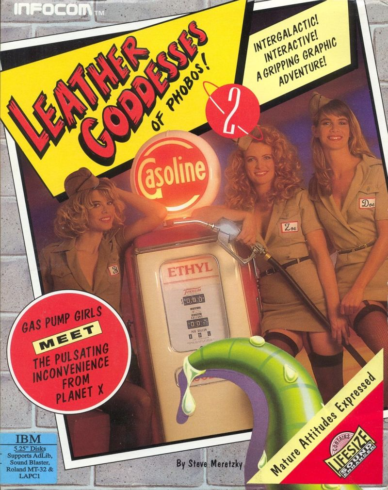 Leather Goddesses of Phobos! 2: Gas Pump Girls Meet the Pulsating Inconvenience from Planet X DOS Front Cover
