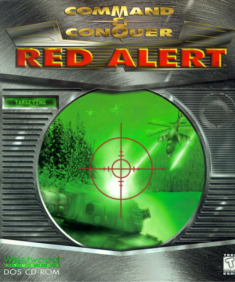 Command & Conquer: Red Alert DOS Front Cover