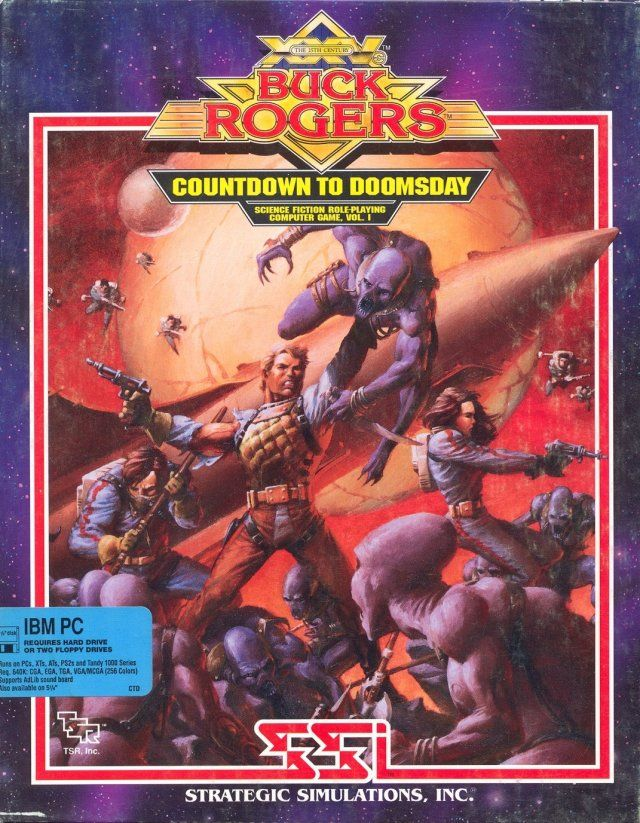 Buck Rogers: Countdown to Doomsday DOS Front Cover
