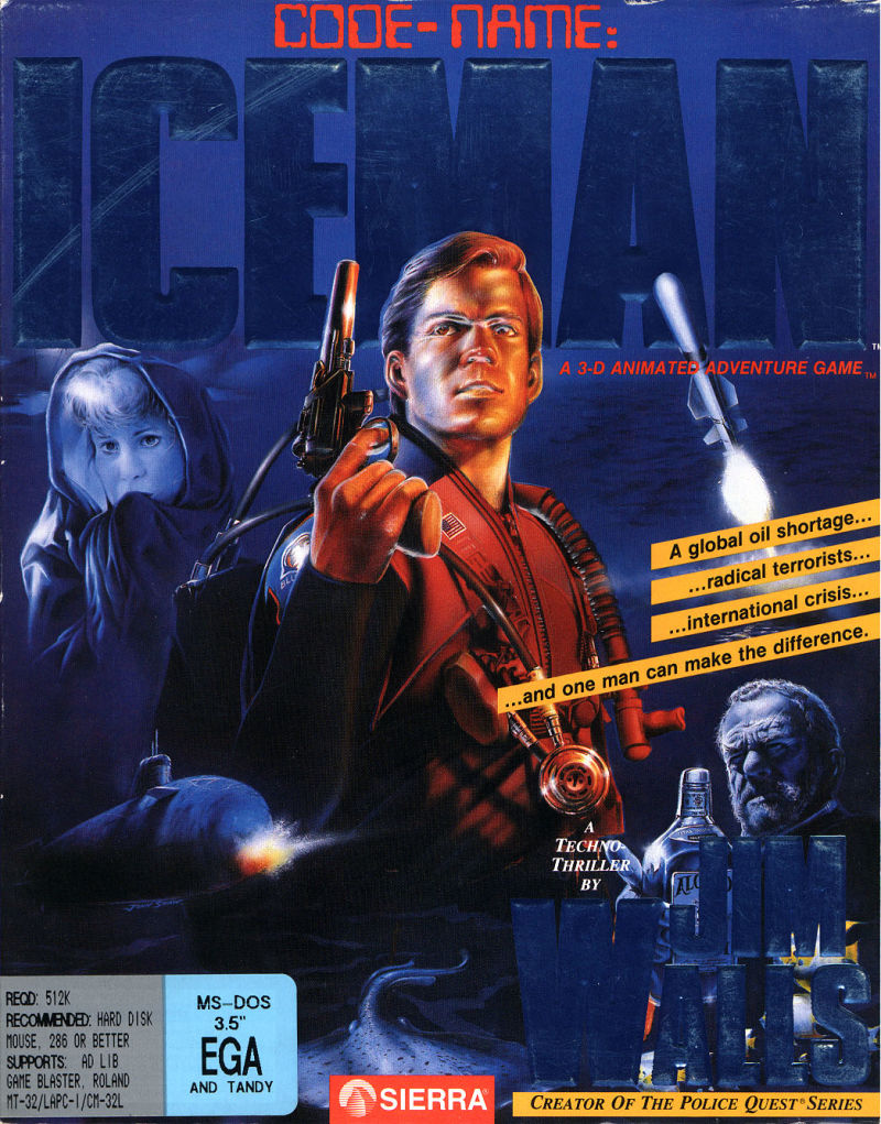 Code-Name: Iceman DOS Front Cover