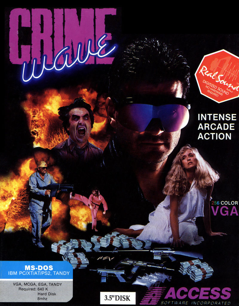 Crime Wave DOS Front Cover