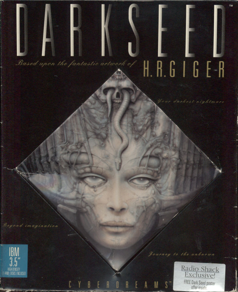 Dark Seed DOS Front Cover