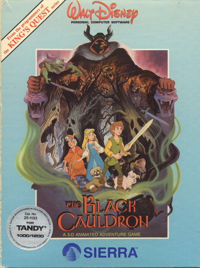 The Black Cauldron DOS Front Cover