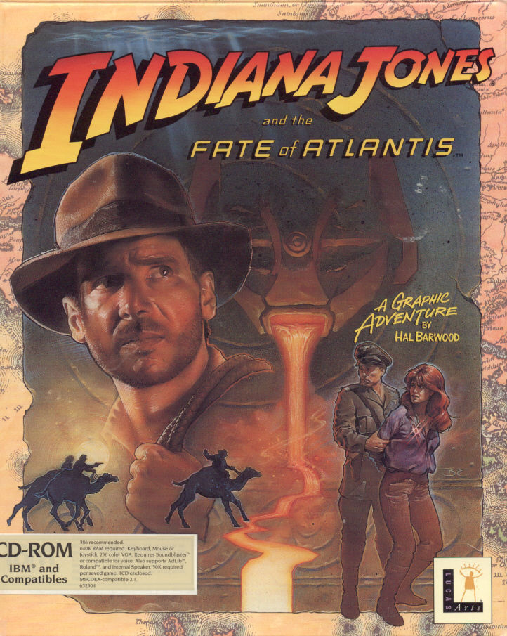 Indiana Jones and the Fate of Atlantis DOS Front Cover