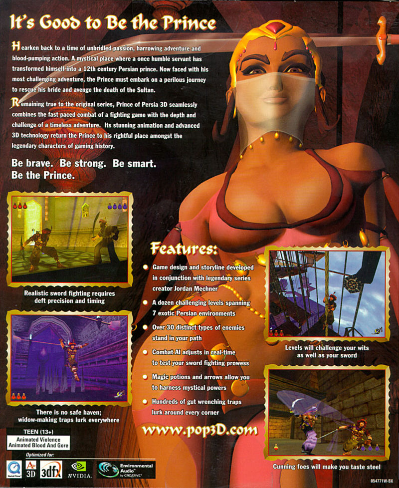 Prince of Persia 3D - Back cover