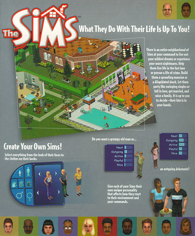 The Sims Windows Inside Cover Left Flap