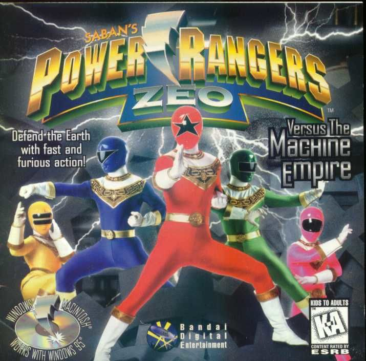 Power Rangers Zeo Versus The Machine Empire Windows Front Cover