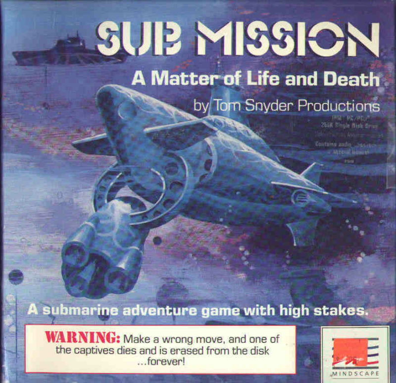 Sub Mission PC Booter Front Cover