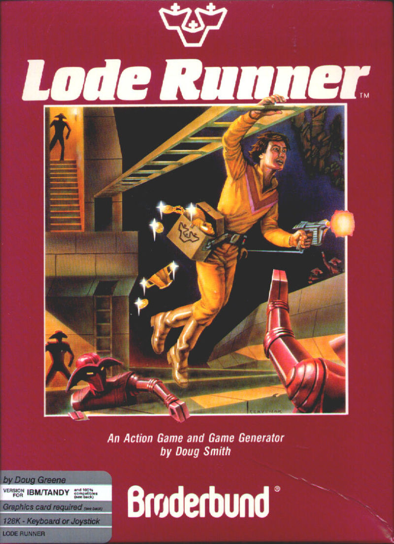 Lode Runner PC Booter Front Cover