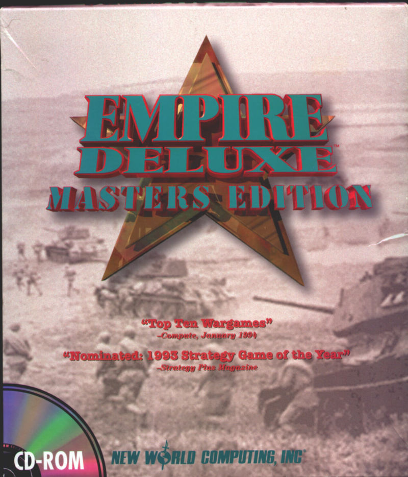 Empire  Deluxe Masters Edition DOS Front Cover