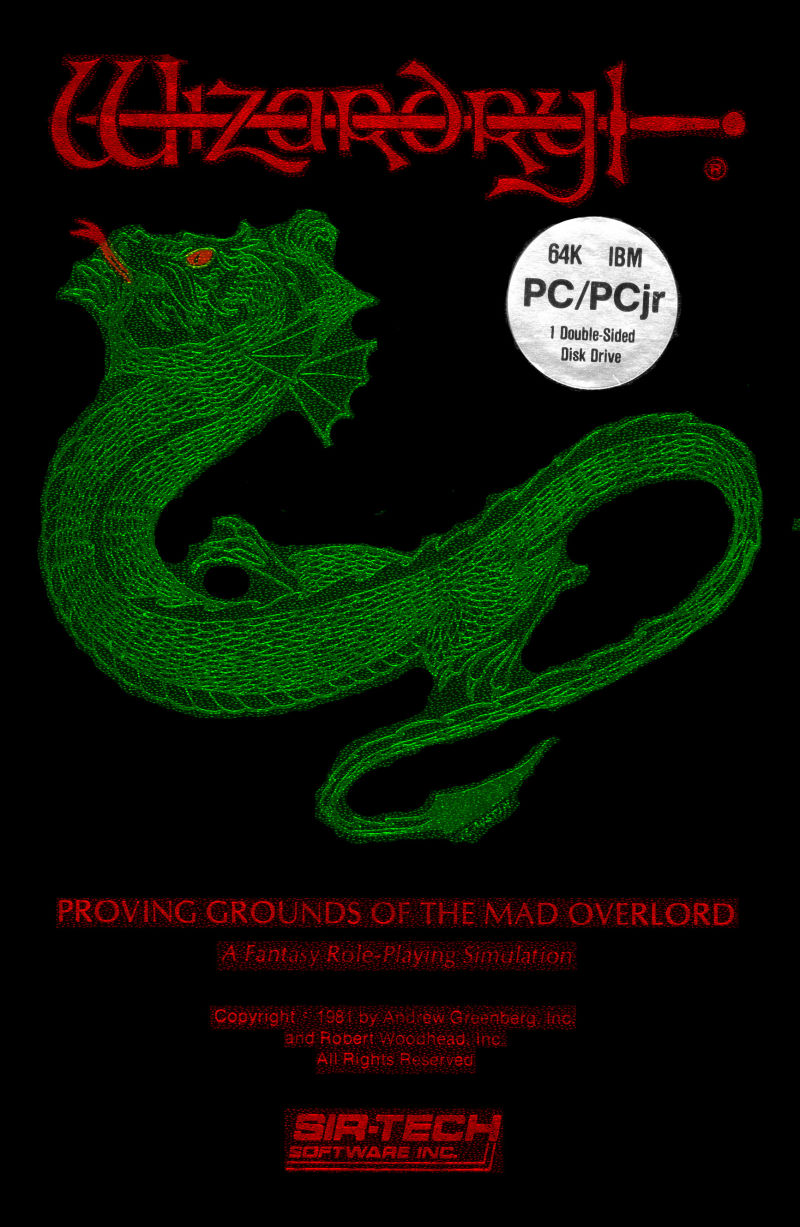 Wizardry: Proving Grounds of the Mad Overlord PC Booter Front Cover
